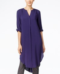 Cable And Gauge Tunic Shirt Nocturnal Blue