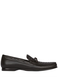Bottega Veneta Hand Woven Nappa Leather Loafers