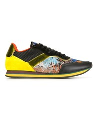 Etro Panelled Sneakers Black