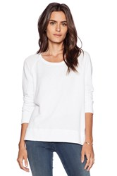 James Perse Classic Long Sleeve Raglan Sweatshirt White