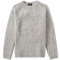 A.P.C. Galway Crew Knit Grey