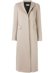 Alberto Biani Single Breasted Coat Nude And Neutrals