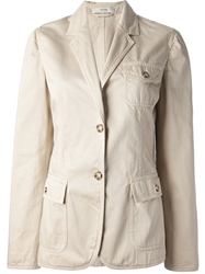 Prada Vintage Safari Style Jacket Nude And Neutrals