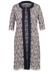 Chesca Scallop Lace Coat Navy Ivory