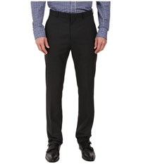 Perry Ellis Portfolio Slim Fit Tonal Plaid Pants Black Men's Dress Pants