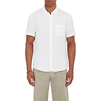 James Perse Men's Linen Short Sleeve Shirt White