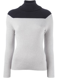 Tsumori Chisato Two Tone Turtleneck Sweater Grey