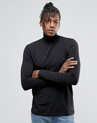 Kubban Long Sleeve T Shirt With Turtle Neck Black