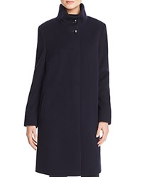 Basler High Neck A Line Coat Navy