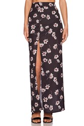 Capulet High Waist Side Slit Skirt Black