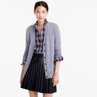 J.Crew Classic V Neck Cardigan In Donegal Wool