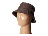 Scala Quilted Rain Bucket Hat W Fleece Lining Chocolate Caps Brown