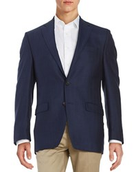 Lauren Ralph Lauren 2 Button Herringbone Blazer Navy