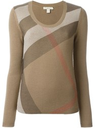 Burberry Brit Checked Sweater Brown