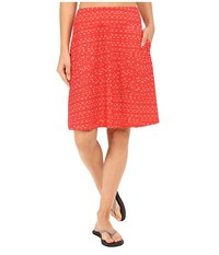 Mountain Hardwear Dryspun Perfect Printed Skirt Red Hibiscus Women's Skirt