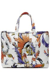 Emilio Pucci Printed Cotton Tote White