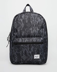 Herschel Supply Co Settlemant Backpack In Snake Print 00735Blacksnakeru