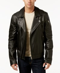 William Rast Men's Westwood Leather Jacket Black