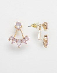 Aldo Eleavia Swing Earrings Gold Purple