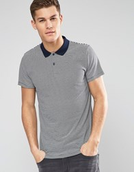 Esprit Stripe Jersey Polo Shirt Navy