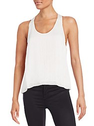 Mlv Nori Sequined Tank Top White