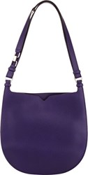 Valextra Weekend Small Hobo Purple