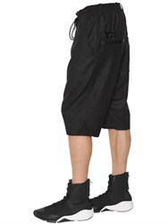 Y 3 Utility Wool And Nylon Shorts