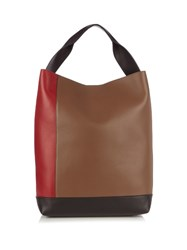 Marni Multicoloured Leather Tote Red Multi
