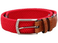 Torino Leather Co. 32Mm Italian Woven Multi Cotton Elastic Red Men's Belts