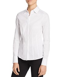 Basler Fitted Stretch Blouse White