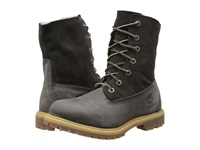 Timberland Authentics Teddy Fleece Fold Down Dark Grey Women's Lace Up Boots Gray