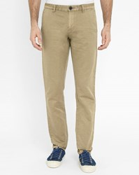 Ikks Beige Cotton Linen Chinos