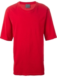 Laneus Round Neck T Shirt Red