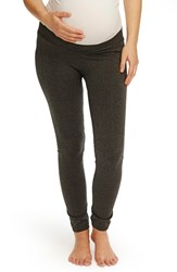 Women's Rosie Pope Seamless Low Rise Maternity Leggings Charcoal Heather