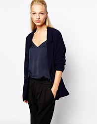 Mango Soft Tailored Blazer Navy