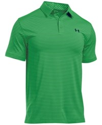 Under Armour Men's Playoff Performance Striped Golf Polo Ptg Ady Ad