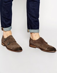 Selected Homme Bolton Monk Suede Shoe Grey