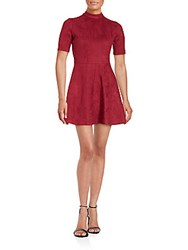 Alexia Admor Solid A Line Dress Burgundy