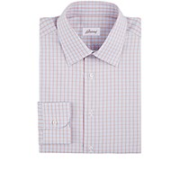 Brioni Men's Checked Dress Shirt Red