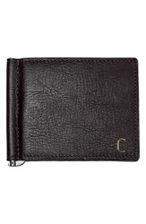 Cathy's Concepts Personalized Leather Wallet And Money Clip Black