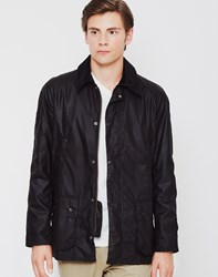 Barbour Ashby Waxed Field Jacket Black