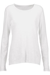Majestic Cotton And Cashmere Blend Top Light Gray