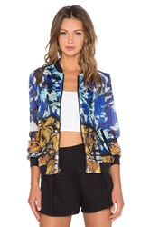 Clover Canyon Shattered Garden Jacket Blue