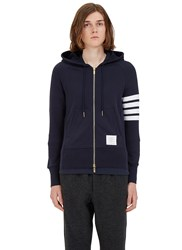 Thom Browne 4 Bar Hooded Sweater Navy