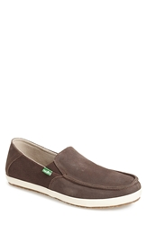 Sanuk 'Casa' Slip On Men Dark Brown