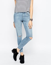 Noisy May Lucy Super Skinny Rip Knee Jean Lbd 34 Blue