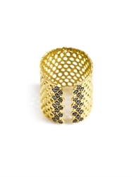 Lara Melchior Bague I Black Diamond And Gold Plated Ring
