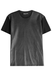 Neil Barrett Cotton T Shirt With Faux Leather Gr. M