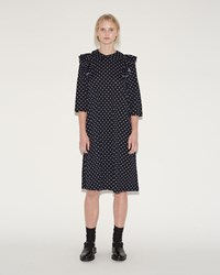 Comme Des Garcons Dot Print Dress Navy Off White