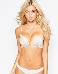 New Look Extreme Micro Lace Edge Push Up Nude